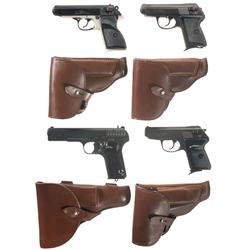 Four Makarov Semi-Automatic Pistols