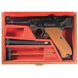 Stoeger .22 Luger Semi-Automatic Pistol in Lined Wood Factory Case with Extra Magazine