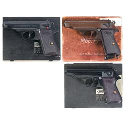 Three Walther PP Semi-Automatic Pistols