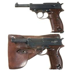 "Two Walther ""ac 44"" Code P-38 Semi-Automatic Pistols"