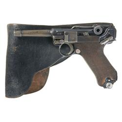 "Mauser ""G"" Date, ""S/42"" Code Luger Pistol with Holster and Extra Magazine"