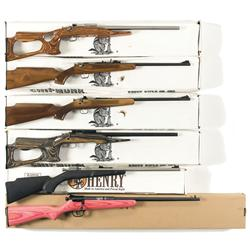 Six Boxed Single Shot Bolt Action Rifles