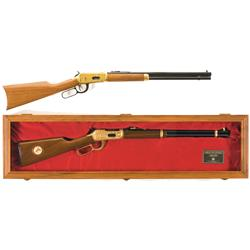 Two Winchester Commemorative Lever Action Carbines