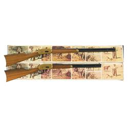 Two Boxed Winchester Centennial '66 Lever Actions