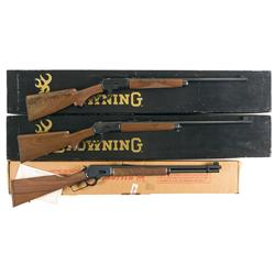 Three Boxed Lever Action Rifles