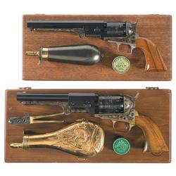 Two Cased Colt Black Powder Series Percussion Revolvers