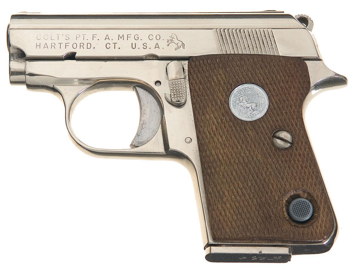 colt junior 25 caliber semi automatic pistol