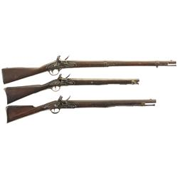Three Flintlock Long Guns