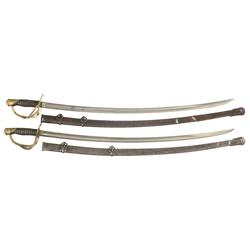 Two U.S. Civil War 1860 Light Cavalry Swords