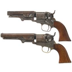 Two Colt Model 1849 Percussion Pocket Revolvers