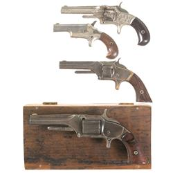 Four Antique Revolvers