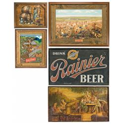 Five Beer Related Wall Hangings