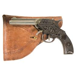 Magic Marked Cast Iron Single Shot Pistol with Holster