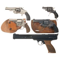 Four Revolvers and One Air Pistol