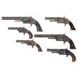 Six Antique Smith & Wesson Revolvers