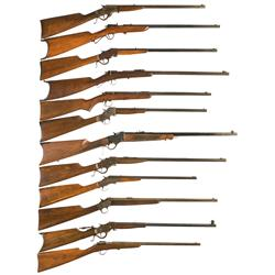 Twelve Small Caliber Single Shot Rifles