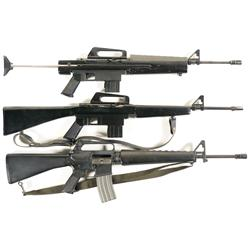 Three Semi-Automatic Rifles