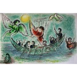 Marc Chagall Original Lithograph from the Odyssey Suite