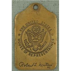 U.S. House of Representatives Robert T. Matsui Key Fob