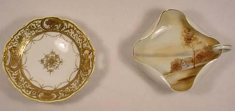 LOT OF 2 PIECES OF HAND PAINTED NIPPON CHINA