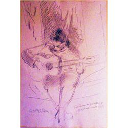 Raphael Soyer, Tina, Signed Pencil Drawing