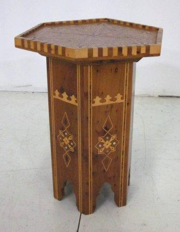 Image 1 : Moroccan Inlaid Octagonal Taboret Table ...