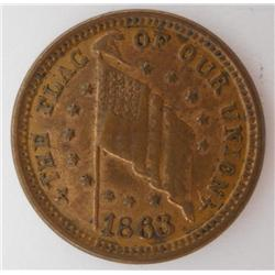 1863   The Flag of Our Union  Civil War Token
