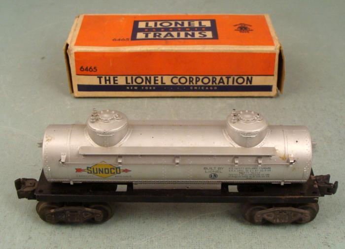 Lionel 6465 Sunoco 2 Dome Tank Car Vintage O Gg In Box