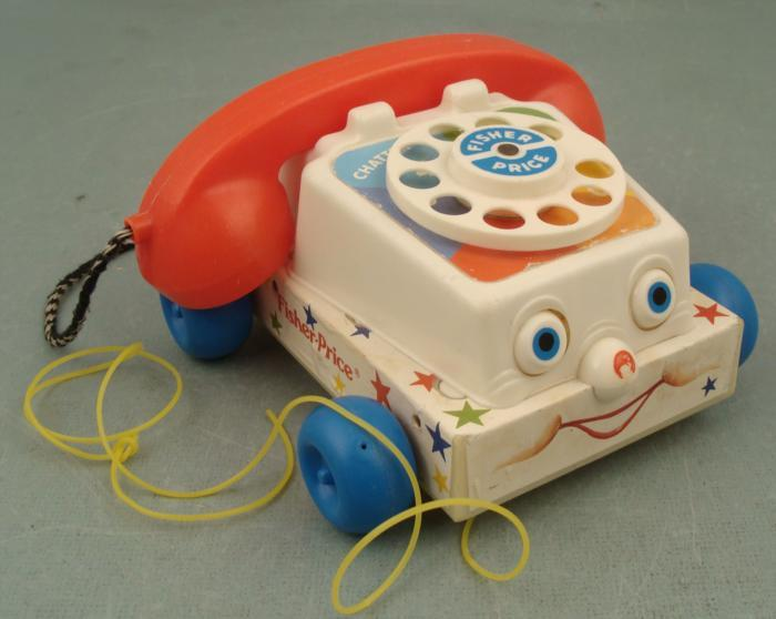 Classic Fisher Price Toys : Vintage fisher price telephone chatter phone