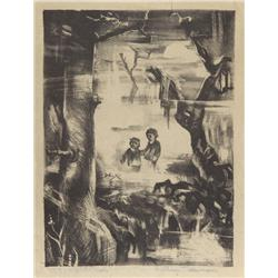 William T. Damon, Children of the Woods, Lithograph