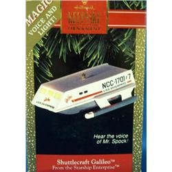 Shuttlecraft Galileo w/Voice of Spock Ornament NIB