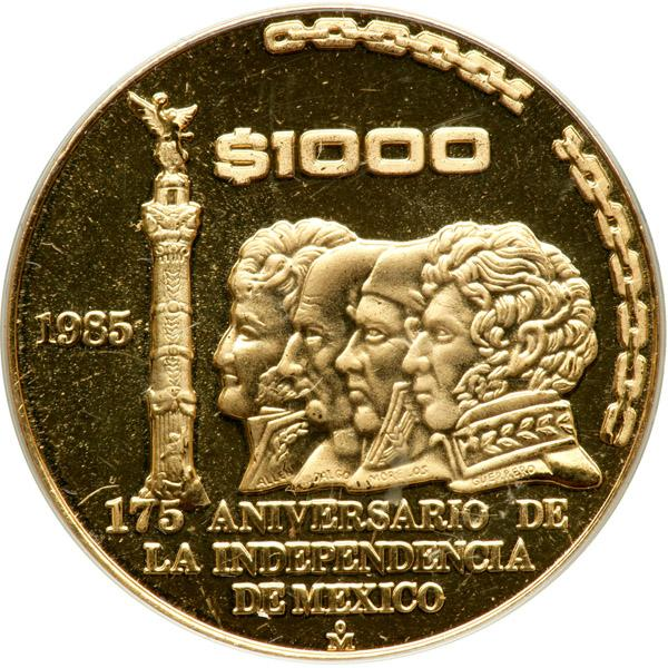 Image 1 Mexico 2 Piece Proof Set Gold 1000 Pesos And Silver 500