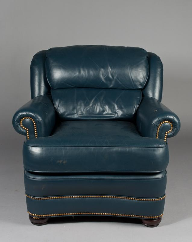 Fine Whittemore Sherrill Leather Chair