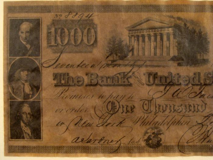 Image 2 1840 1000 Bank Of The United States Note