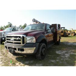 2007 FORD F550 SERVICE TRUCK