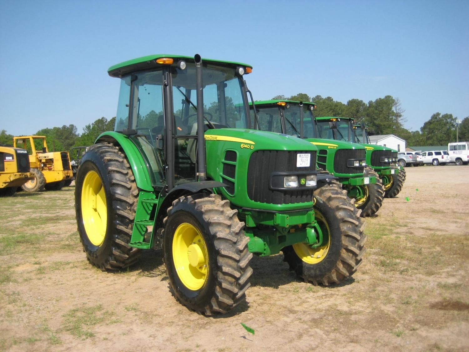john deere 6140d 4x4 farm tractor j m wood auction company inc. Black Bedroom Furniture Sets. Home Design Ideas
