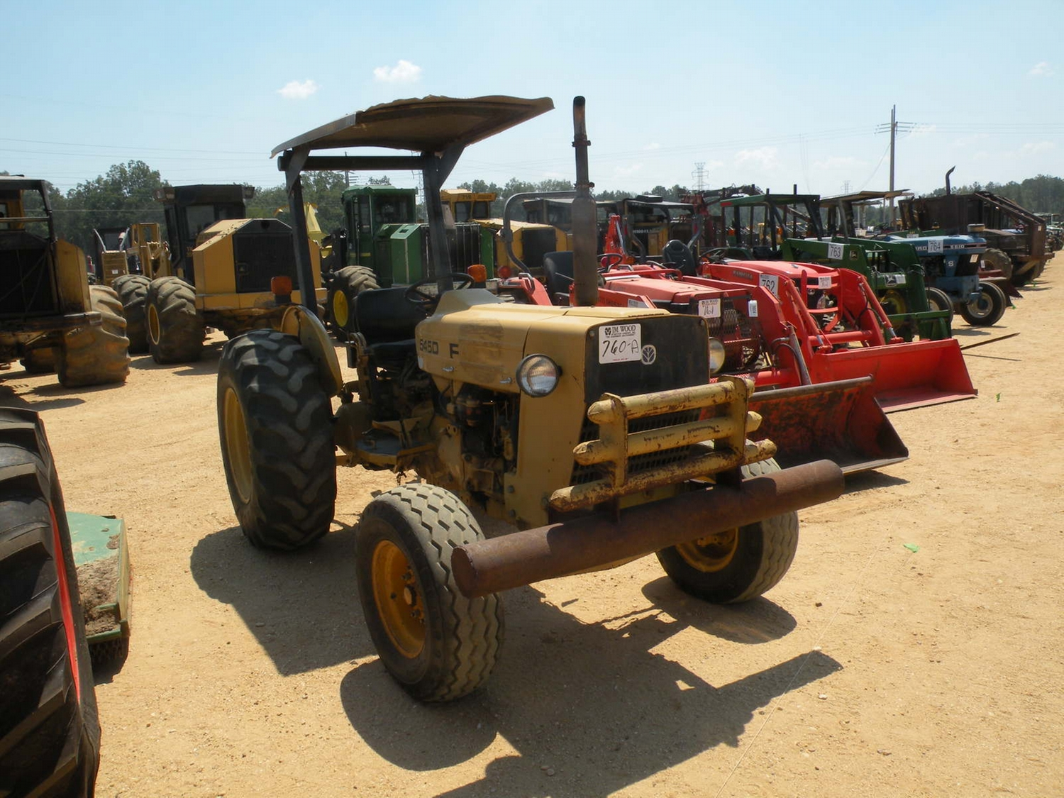 Ford 5200 Tractor Farm : Ford d farm tractor j m wood auction company inc