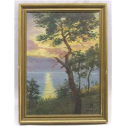 Antique Framed Original Cape Cod Painting