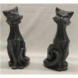 1961 Universal Statuary Cat Sculptures