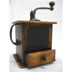 Antique Coffee Grinder with Side Handle