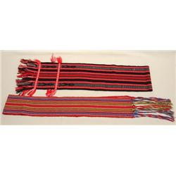 2 Native American Dance Sashes