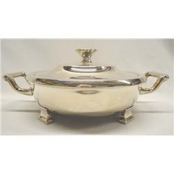 Antique Sheffield Silverplate Chafing Dish
