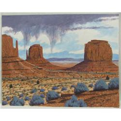 Original Native American Navajo Fred Cleveland Painting