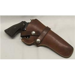 8 Shot 22LR Pistol With Leather Holster
