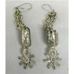 Cowboy Silver Spur Earrings