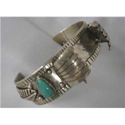 1920s Native American Navajo Silver Turquoise Watch Band