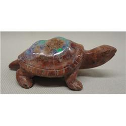 Mexican Opal Carved Turtle Fetish