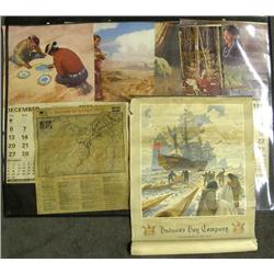 Collection of Vintage Calendars and Map