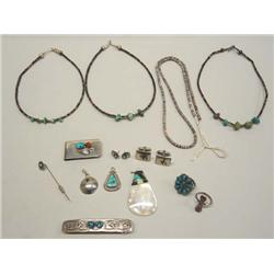 Collection of Native American Navajo Jewelry