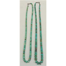 2 Vintage Native American Navajo Turquoise Necklaces